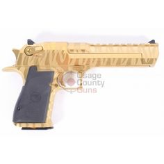 "Desert Eagle .50 AE Titanium Gold - Tiger Stripe 6"" BBL"