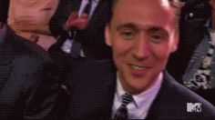 """Having a bad day? Here's a hug from Tom Hiddleston."" // (gif)"