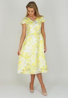 70c66a8c286 Ella Boo Metallic Print Flared Dress