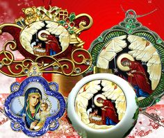 Orthodox Christmas Ornaments. I need to buy some of these before Christmas rolls around!