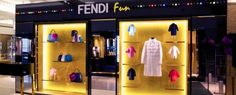 Playful Arcade Theme featured by Fendi at Harrods | More at http://interiordesignshop.net/