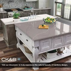 Cambria Quartz is the top of the line in Quartz Countertops. See 8 NEW incredible colors from your favorite quartz brand, here! Cambria Quartz, Interior Decorating, Interior Design, Queen Anne, Home Projects, Granite, Tiles, Like4like, Kitchen Cabinets