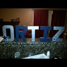 Hey, I found this really awesome Etsy listing at https://www.etsy.com/listing/170461510/football-mache-letters