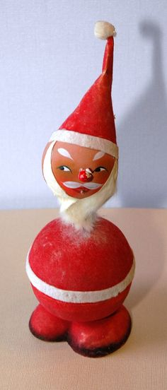 Vintage West Germany Santa Candy Container