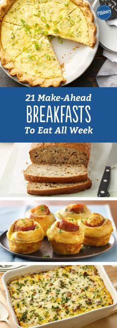 21 Make-Ahead Breakfasts to Eat All Week: Cook once, eat twice. Or three or four times even, with these simple make-ahead breakfasts. #healthybreakfasts