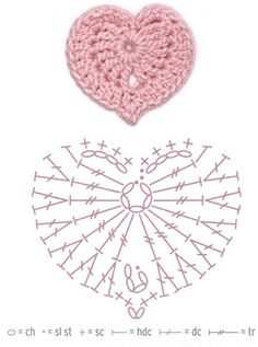 Hearts crochet patterns free [ | Crochet