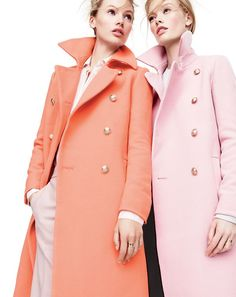Bright winter coats.