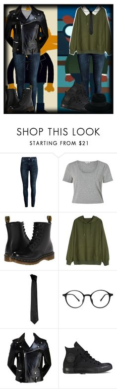 """""""Gregg And Angus ( Night In The Woods"""" by chemicalfallout249 ❤ liked on Polyvore featuring H&M, Miss Selfridge, Dr. Martens, Versace, Converse, Maison Michel and alternative"""