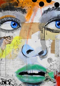 "Saatchi Online Artist Loui Jover; Assemblage / Collage, ""these tears come from a deeper place"" #art"