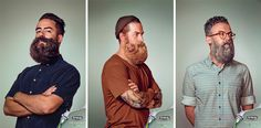 animal beards for schick's free your skin campaign