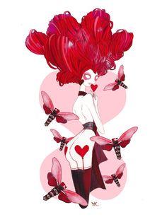 Seven Deadly Sins 'Lust' Art Print by Gina Martynova 7 Sins, Horsemen Of The Apocalypse, Goth Art, Donald Glover, Seven Deadly Sins, Pin Up Art, Canvas Prints, Art Prints, Fantasy Characters