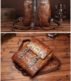Leather Backpack Tote Laptop Handbag