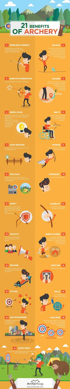 21 Benefits of Archery More Archery things at http://archerstop.com/