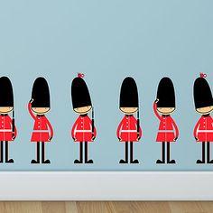 Queens Guards Wall Stickers cute digi art illustration