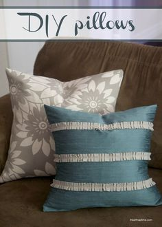 @Jalyn {iheartnaptime.net} created beautiful pillows from @HGTV HOME fabric #hgtvhomemagic