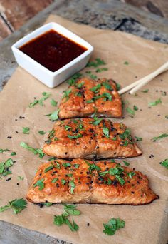 Ginger Sesame Glazed Salmon | Ruled Me