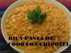 RICA PASTA DE CODO CON CHIPOTLE (LOS ANGELES COCINAN ) - YouTube