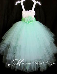 GREEN Tutu Flower Girl Dresses | Mint Green Tutu Dress / Layered Tutu Dress / ... | Flower Girl Dresse ...