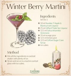 Winter Berry Martini - Christmas Cocktail Recipe Card http://www.tanners-wines.co.uk/blog/2014/12/10/winter-solstice-christmas-cocktail-recipe-card/?utm_source=pinterest&utm_medium=content-promotion&utm_campaign=cp-winter-solstice-recipe-card