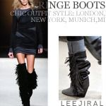 Today's Hot Pick :Leather Fringed Suede Boots http://fashionstylep.com/SFSELFAA0002564/dalphinsen1/out High quality Korean fashion direct from our design studio in South Korea! We offer competitive pricing and guaranteed quality products. If you have any questions about sizing feel free to contact us any time and we can provide detailed measurements.