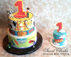 Trendy Birthday Party Themes For Men Toy Story Ideas Woody Birthday Parties, Toy Story Birthday Cake, Birthday Party Tables, 1st Boy Birthday, Birthday Ideas, Happy Birthday, Bolo Toy Story, Toy Story Cakes, Toy Story Theme
