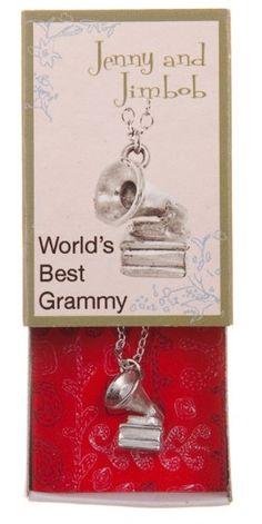 Words Best Grammy - Gramophone necklace