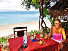 Breakfast on Thailand beach (next week, yay)