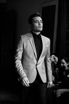 Ed Westwick on his runway debut for Philipp Plein.