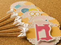 Festa Expressa - Craft - Tuty - Arte & Mimos www.tuty.com.br O kit está disponível a pronta-entrega. www.tuty.com.br #festa #personalizada #pronta #party #tuty #bday #cha #encontro #craft #costura