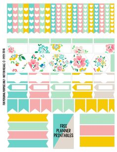 Free Printable Floral Planner Stickers {Page Two} from Free Pretty Things for You