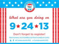 Register to vote and make sure that your friends and family do the same! #celebrateNVRD