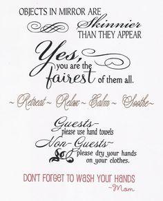 cute Bathroom Sayings....