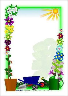 Plant Growing Page Borders Boarder Designs, Frame Border Design, Page Borders Design, School Border, Boarders And Frames, School Frame, Decorative Borders, Borders For Paper, Floral Border