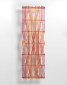 peter collingwood - red macrogauze wall hanging I #textiles #weaving