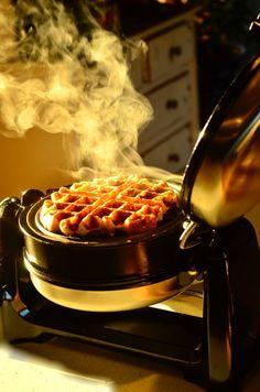 Lemon Coconut Oatmeal Waffles from @KitchenAid via @Sandy | Reluctant Entertainer