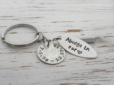 Fishing lure key chain always in our heart by WhisperingMetalworks