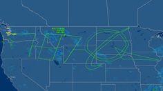 Boeing \'draws\' 787 Dreamliner logo across the USA #prstunts