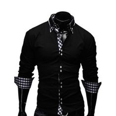 SHARE & Get it FREE | Turn-Down Collar Checked Splicing Design Long Sleeve Men's ShirtFor Fashion Lovers only:80,000+ Items·FREE SHIPPING Join Dresslily: Get YOUR $50 NOW!