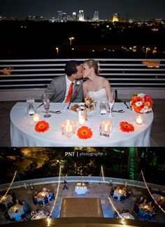 SunTrust Terrace even wedding reception at the Orlando Science Center