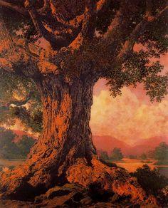 Maxfield Parrish - An Ancient Tree
