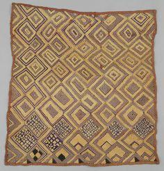 Africa | Kuba people, DR of Congo | Skirt, Raffia Textile | Raffia pile cloth