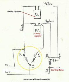 Electric Motor Capacitor Wiring Diagram Air Pressor Capacitor Wiring Diagram Before You Call A Ac Capacitors Ac Repair Man Ac Repair