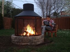 Outdoor Spaces, Outdoor Living, Outdoor Decor, Outdoor Fire, Outside Fire Pits, Fake Fireplace, Fire Pit Designs, One With Nature, Diy Fire Pit