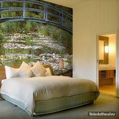 Fototapeten Japanische Brücke_Monet
