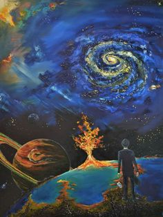 The Journey Oil Painting Original Wall by ThirdHeavenArt Drugs Art, Trippy Wallpaper, Meditation Art, Visionary Art, Psychedelic Art, Surreal Art, Illustrations, Unique Art, Amazing Art
