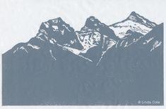 My art print honors Canmore's Three Sisters mountains Three Sisters, Blank Canvas, Mountain Landscape, My Arts, Art Prints, Grey, Printing, Art Impressions, Gray