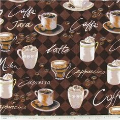 Coffee Print Fabric | Shop Hobby Lobby