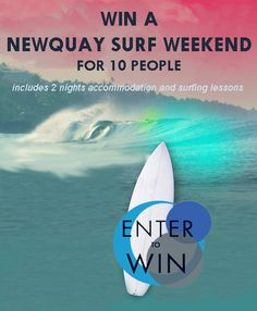 WIN A CORNWALL SURFING WEEKEND FOR 10 PEOPLE!  Enter here --> woobox.com/yoabu7  #Surfing #Newquay #Competition #UK Newquay Surf, Cornwall Surfing, Competition, People, People Illustration, Folk