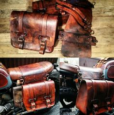 Cafe racer motorcycle saddlebags scrambler custom by maxakaido