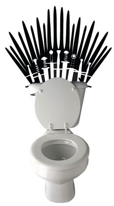 Transform Your Toilet Into The Iron Throne